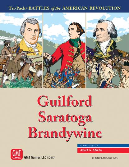 American Revolution: Guilford, Saratoga, Brandywine Tri-pack Box Front