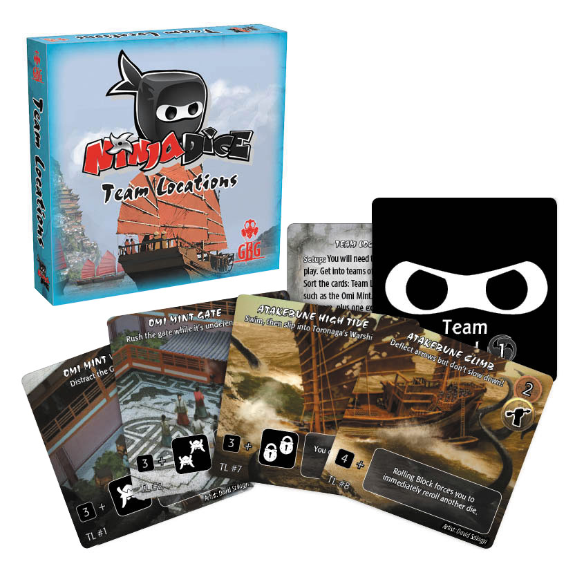 Ninja Dice: Team Locations Expansion Box Front