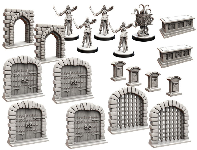 Folklore: The Affliction - Terrain Minatures Pack 2e Game Box
