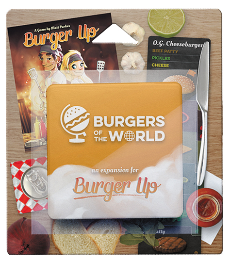 Burger Up: Burgers Of The World Expansion Box Front