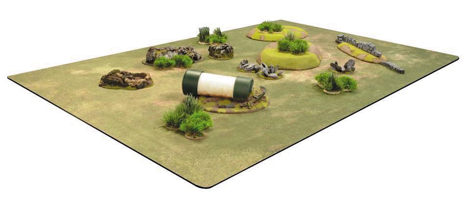 Battlemat Grass Field 6ft X 4ft Game Box
