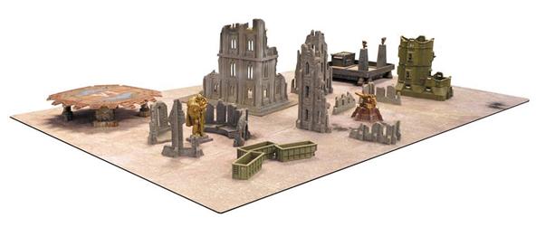 Battlemat Concrete 6ft X 4ft Box Front