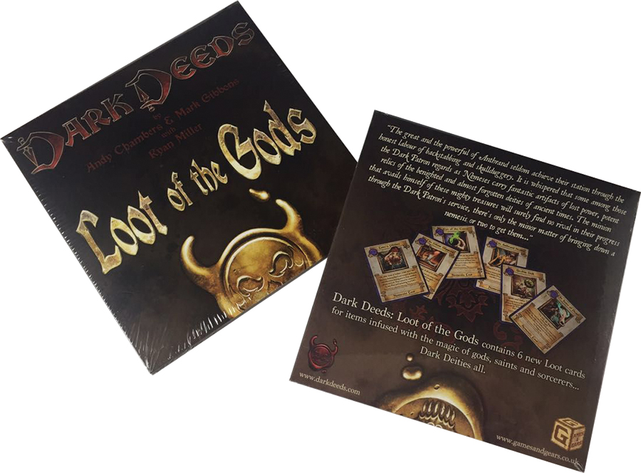 Dark Deeds: Loot Of The Gods Expansion Box Front