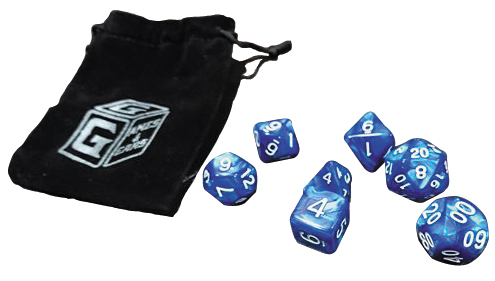 Games And Gears Rpg Heroic Blue Dice Set (7) With Bag Box Front