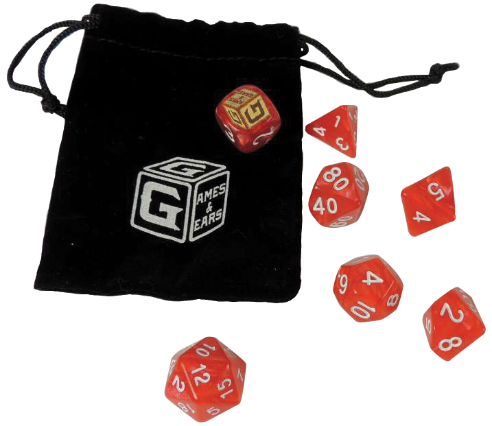 Games And Gears Rpg Heroic Red Dice Set (7) With Bag Box Front