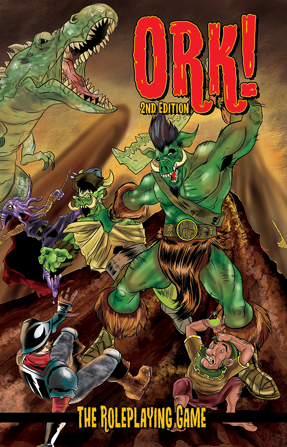 Ork! The Roleplaying Game: 2nd Edition Box Front