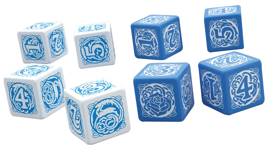 Blue Rose Dice Set Box Front