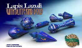 Polyhero Wizard Set - Lapis Lazuli With Glittering Gold Game Box