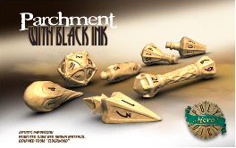Polyhero Wizard Set - Parchment With Black Ink Game Box