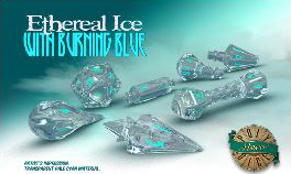 Polyhero Wizard Set - Ethereal Ice With Burning Blue Game Box