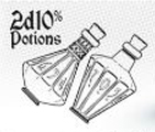 2d10 Potions - Ethereal Ice With Burning Blue Game Box