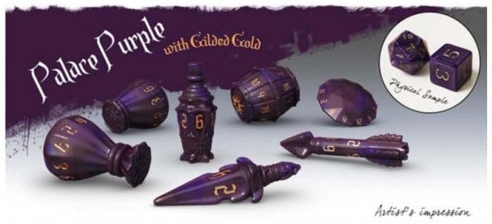 Polyhero Dice Rogue Set: Palace Purple