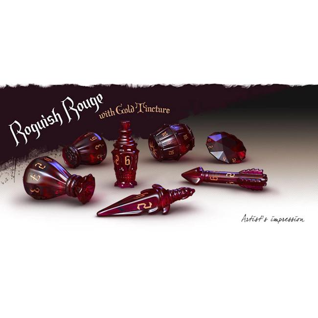 Polyhero Dice Rogue Set: Roguish Rouge