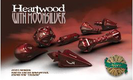 Polyhero Wizard Set - Heartwood With Moonsilver Box Front