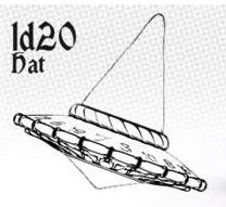 1d20 Hat - Parchment With Black Ink Box Front