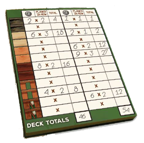 Deck Building: 100 Page Score Pad Box Front