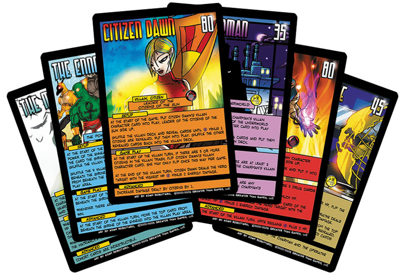 Sentinels Of The Multiverse: Oversized Villain Character Cards Box Front