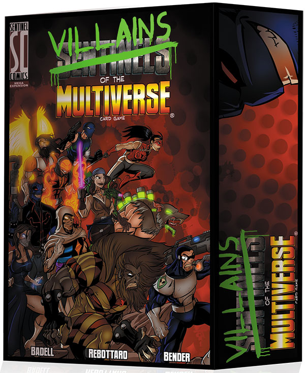 Sentinels Of The Multiverse: Villains Of The Multiverse Mega Expansion Box Front