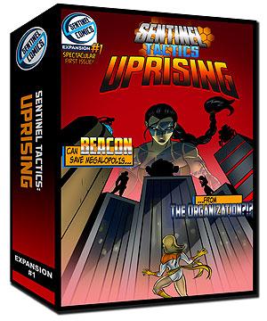 Sentinel Tactics: Uprising Expansion Box Front