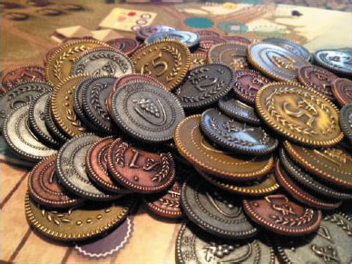 Viticulture: Metal Lira Coins Box Front