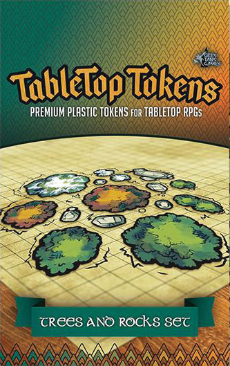 Tabletop Tokens: Trees & Rocks Set Game Box