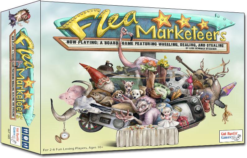 Flea Marketeers Board Game Box Front