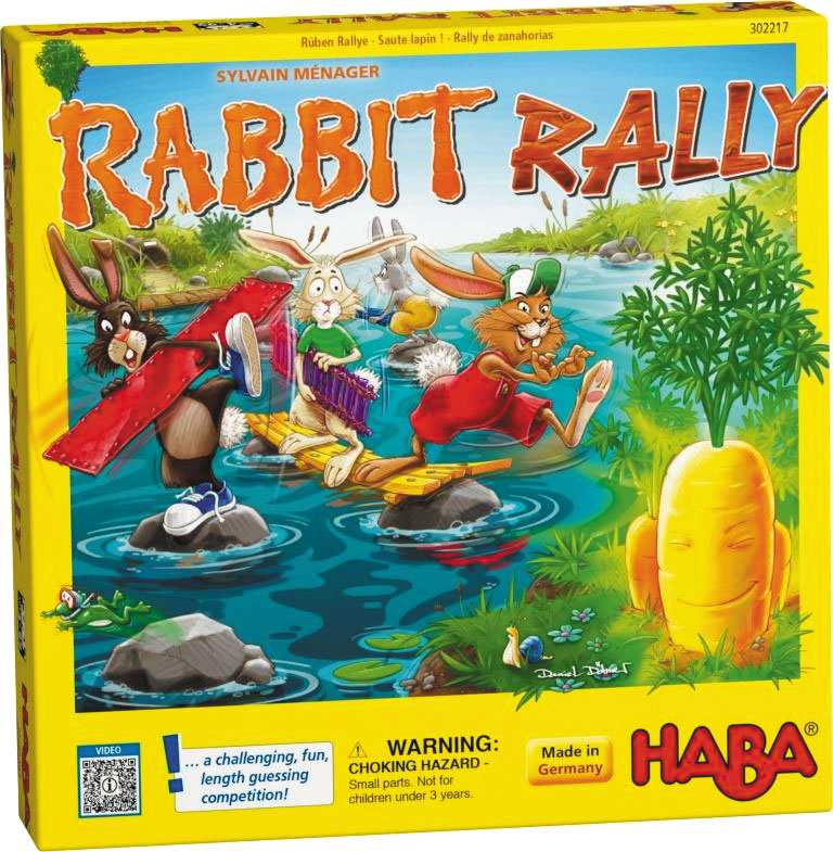 Rabbit Rally Game Box Front