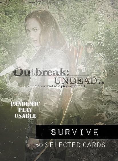 Outbreak Undead Rpg: Survive Deck Box Front