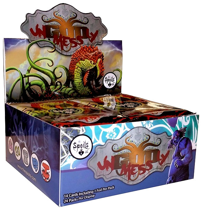 The Spoils Tcg: Ungodly Mess Booster Display (24) Box Front