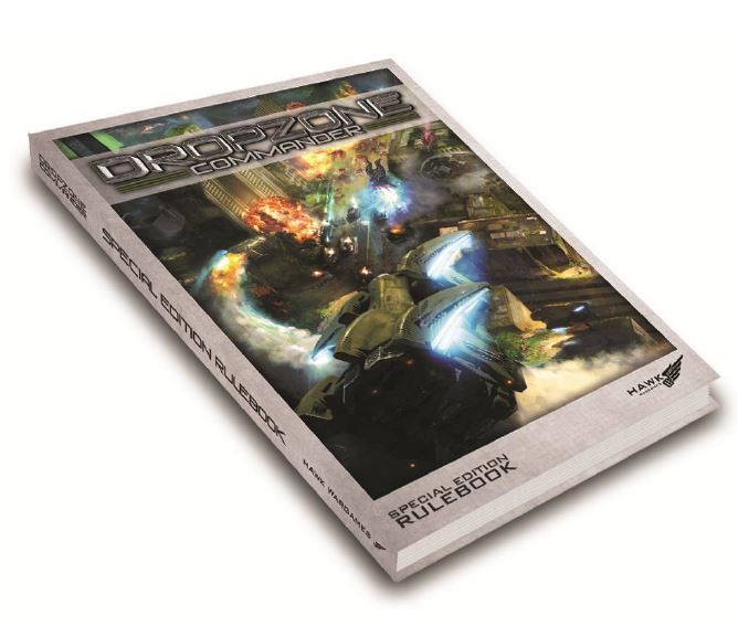 Dropzone Commander Core Rulebook Limited Edition Version - Hardback Box Front