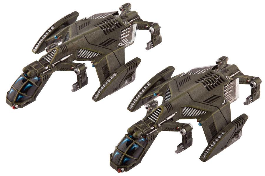 Dropzone Commander: Ucm Raven Type B Light Dropships Box Front