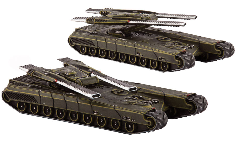 Dropzone Commander: Ucm Gladius Heavy Tanks Box Front