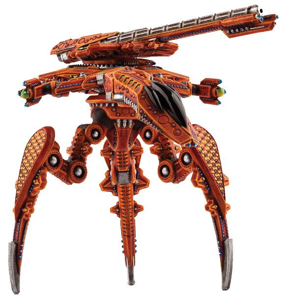 Dropzone Commander: Shaltari Ocelot Warstrider Box Front