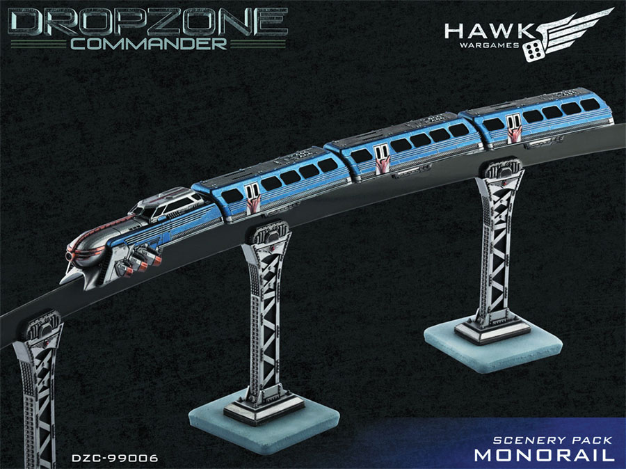 Dropzone Commander: Monorail Scenery Pack Box Front