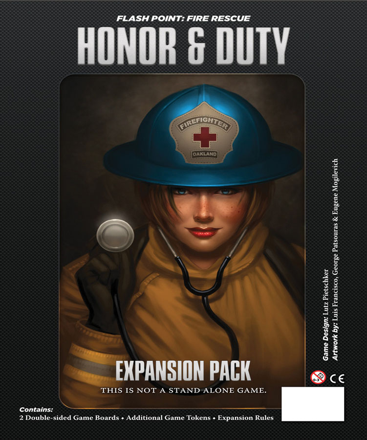 Flash Point Fire Rescue: Honor And Duty Expansion Box Front