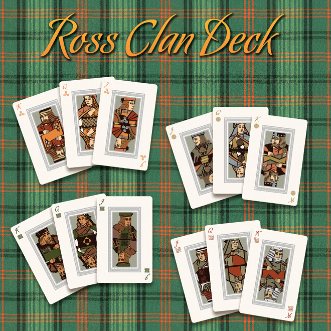 Haggis: Ross Clan Deck Playing Cards Box Front