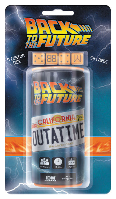 Back To The Future: Outta Time Dice Game Box Front
