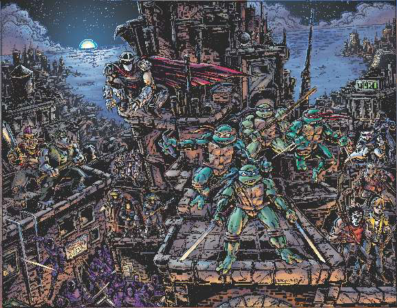 Teenage Mutant Ninja Turtles Universe Premium 1000 Piece Puzzle Box Front
