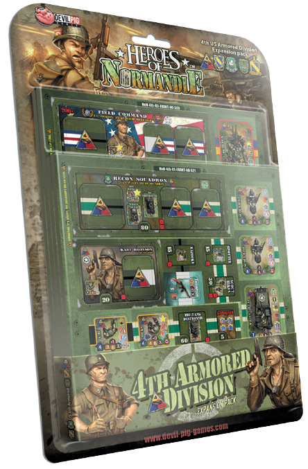 Heroes Of Normandie: Us Armored 4th Division Box Front