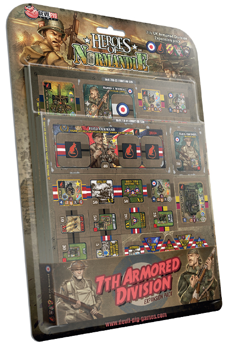 Heroes Of Normandie: Uk 7th Armored Division Box Front