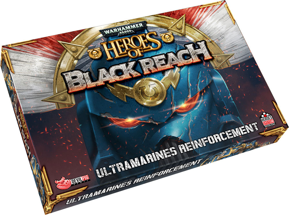 Heroes Of Black Reach: Ultramarine Reinforcements Game Box