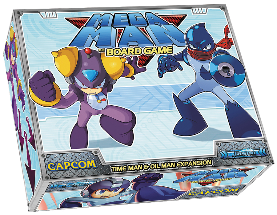 Mega Man: Time Man And Oil Man Expansion Box Front