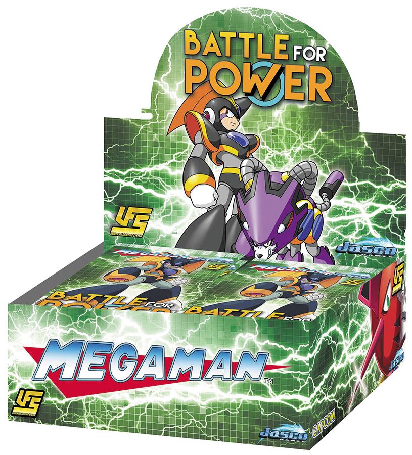 Ufs Megaman Battle For Power Booster Box Front