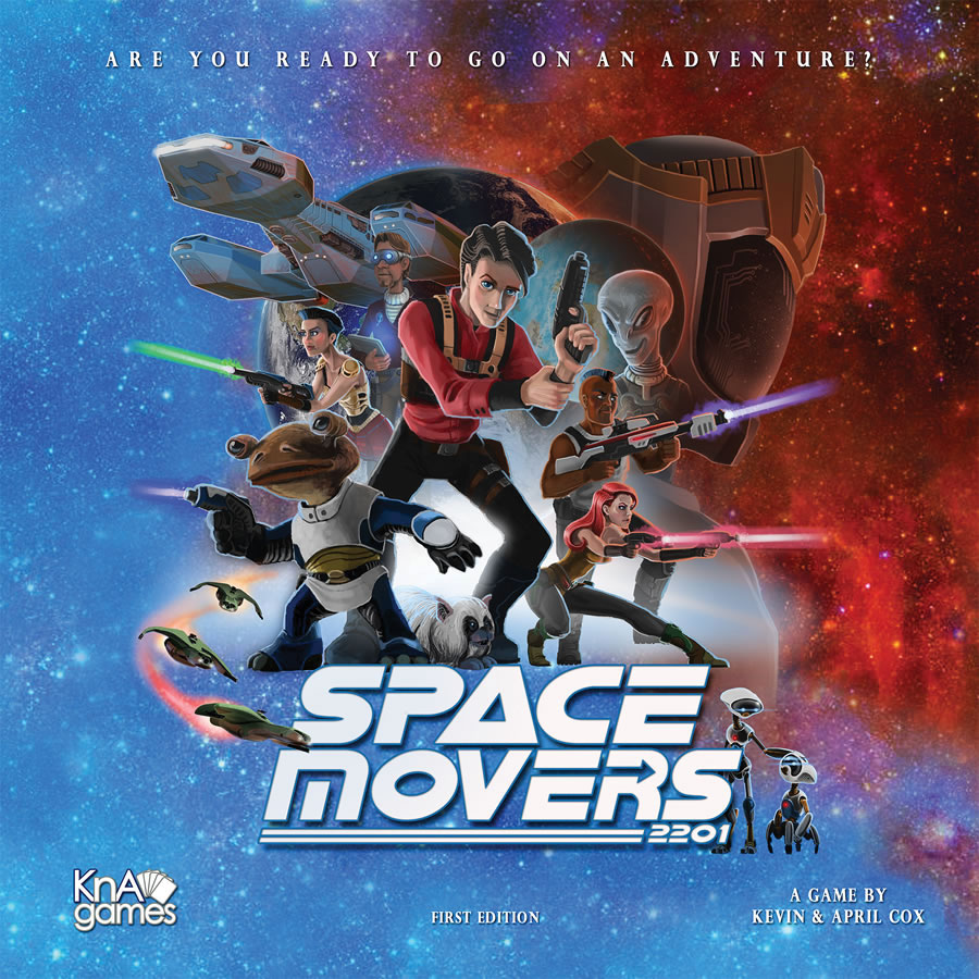 Space Movers Board Game Box Front