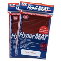 Sleeves: Full Size Hyper Matte Red (100) Usa Pack