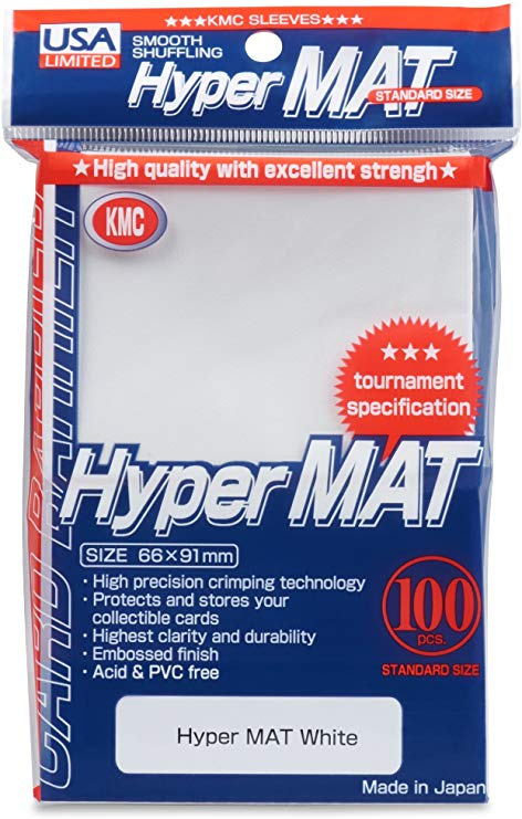 Sleeves: Full Size Hyper Matte White (100) Usa Pack