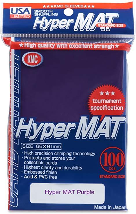 Sleeves: Full Size Hyper Matte Purple (100) Usa Pack