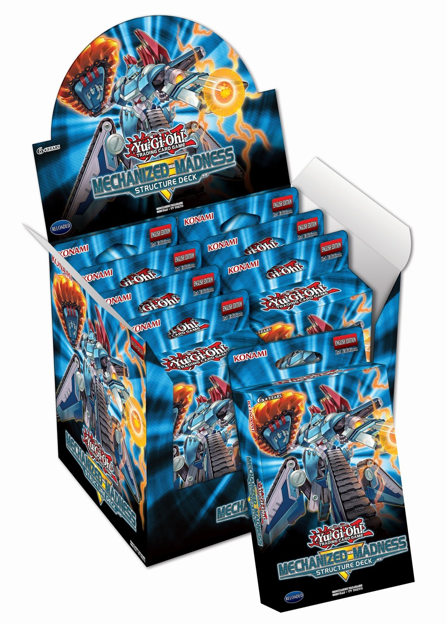 Yu-gi-oh! Tcg: Mechanized Madness Structure Deck Display (8)