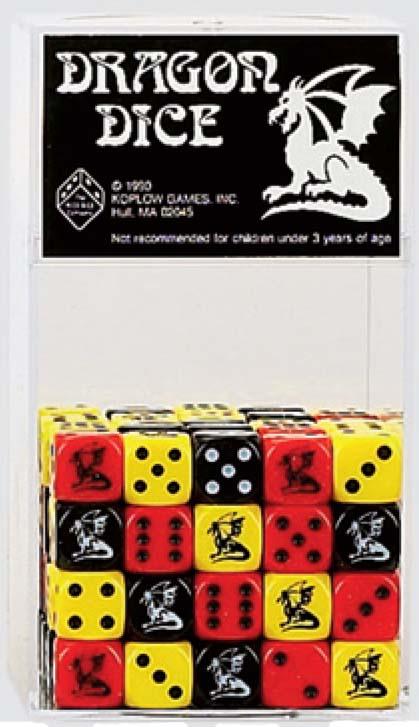 Dice: 16mm Dragon Dice Yellow