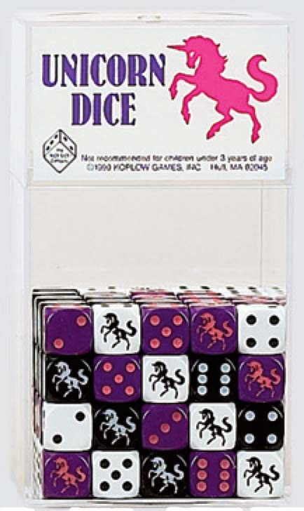 Dice: 16mm Unicorn Dice Purple